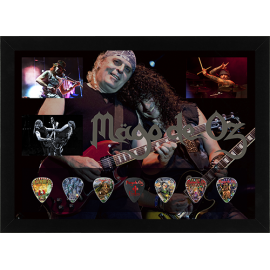 Picture made with collection picks (covers of Mago de Oz) - Signed