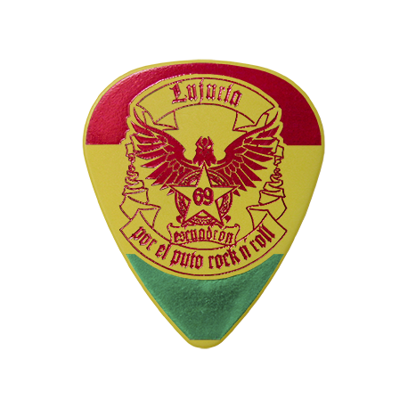 Púas personalizadas Lujuria (Gira Bolivia)