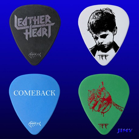 Leather Heart (Pack of 4 picks)